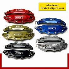 2 pces s/m/l 3d alumínio pinça de freio capa traseira dianteira universal metal caliper capa kit roda modificação para 14-20 polegadas rodas