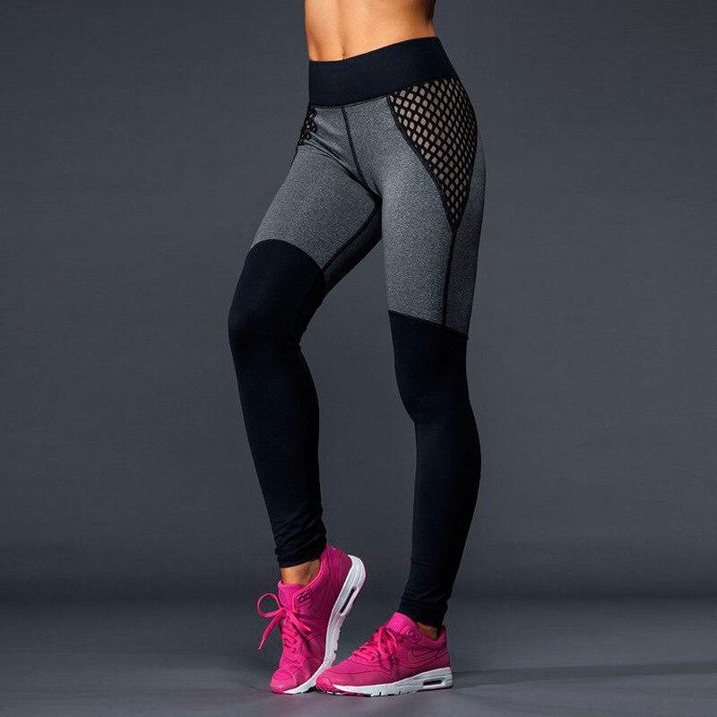 LAISIYI Mesh Pattern Print   Leggings   Fitness   Leggings   For Women Sporting Workout Leggins Jogging Elastic Slim Black White Pants
