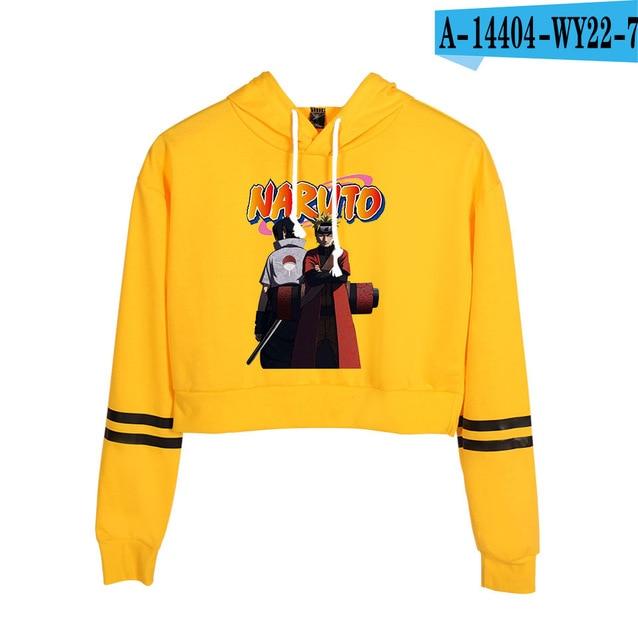 Now United Crop Top Hoodies Harajuku Japanese Anime Uzumaki Printed Hoodie Women Streetwear Fashion Cropped Sweatshirt Coat 6