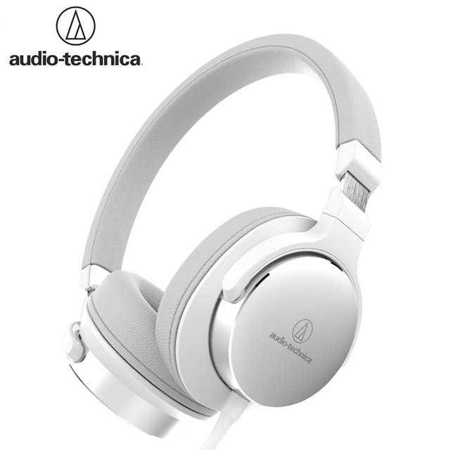 Original Audio Technica SR5 Wired Headphone Foldable Portable Sports Game Headset HD Sound Earphone 1-button Remote with Mic