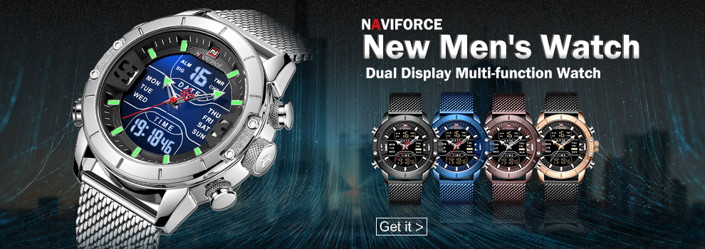 NAVIFORCE 2021 Luxury Watches for Men Silicone Strap Military Waterproof Sport Chronograph Quartz WristWatch Man Clock With Date
