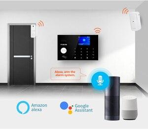 Image 4 - 新しいワイヤレスwifi 4グラム/gsmホームセキュリティ警報システム装備3ペア100m irビームチュウヤ/スマートライフアプリ制御警報