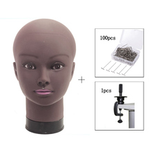 Afro Bald Mannequin Head For Making Wigs Making Hat Display Cosmetology Manikin Head For Makeup Practice In Wig Stand With Clamp все цены