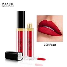 IMAGIC Matte Lip Gloss Waterproof Liquid Lipgloss Long Lasting Sexy Cosmetic Beauty Dont dye the cup Makeup lips