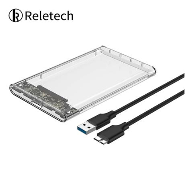 Reletech Hdd Case SATA  USB 3.1 External Hard Drive Case Enclosure with Cable for 2.5  SSD SATA Interface 5Gbps  hd externo 1