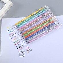 12pcs Creative simple 12 color hand pen 0.5mm full needle gel transparent watercolor
