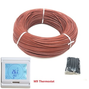 Image 2 - 50m 12K 33ohm/m Infrared Carbon Fiber Heating Wire Silicone Rubber Warm Floor Heating Cable with Thermostat