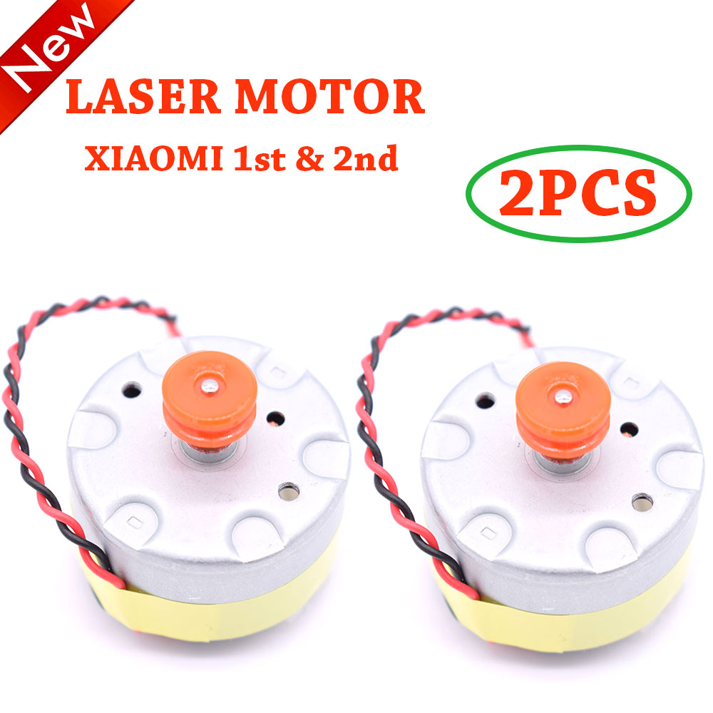 Gear Transmission Motor 2PCS For Xiaomi Mijia 1st 2nd & Roborock S50 S51 S55 Robot Vacuum Cleaner Laser Sensor LDS Cleaner Motor