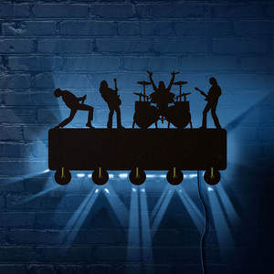 Image 2 - Светящиеся Настенные Крючки со светодиодной подсветкой рок группы, домашний декор, многоцветная музыкальная группой, вешалка для ключей от пальто, подарок для певицы Idol