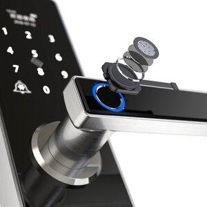 Image 2 - Tuya สมาร์ทประตูล็อคลายนิ้วมือกันน้ำ APP Keyless USB ชาร์จประตูล็อค