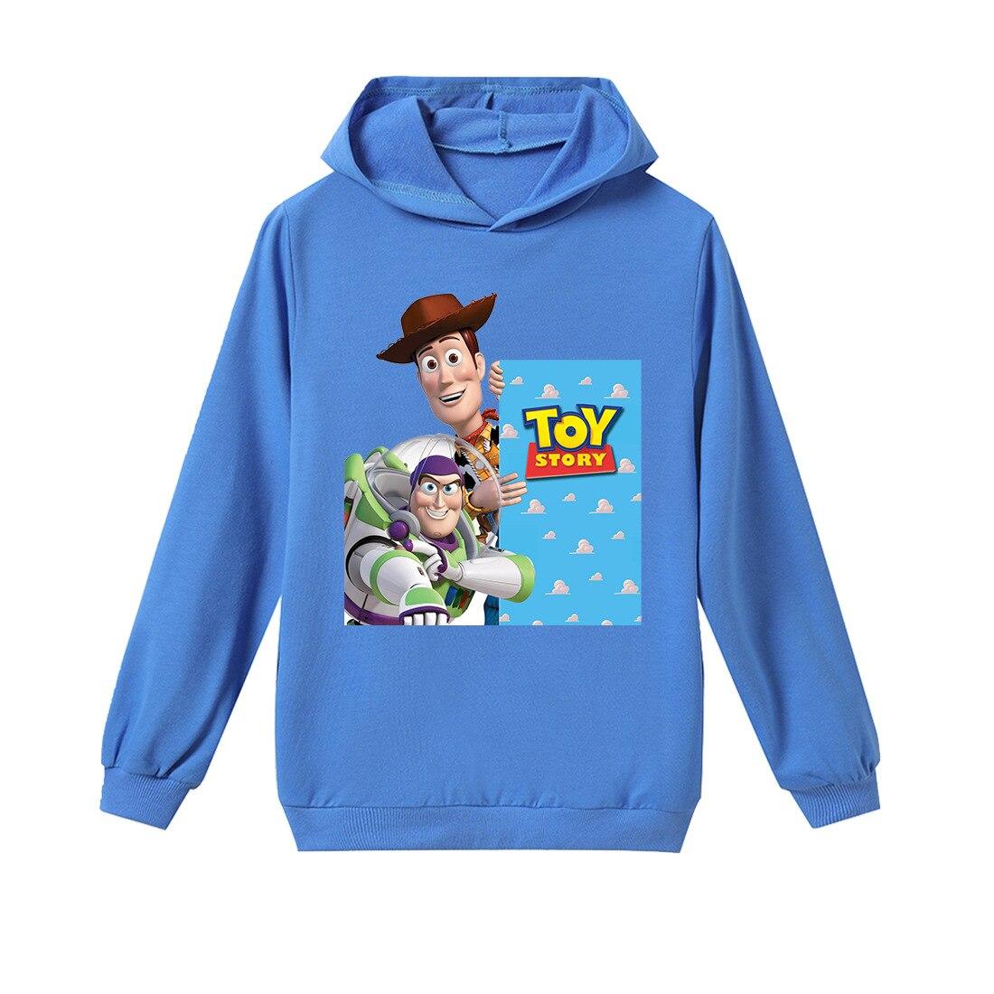 Синие повседневные толстовки с капюшоном «История игрушек 4 форки Вуди»; От 3 до 11 лет детская футболка; детская одежда; пуловер для