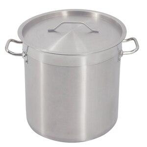 Ticari yeni derin büyük paslanmaz çelik kazan Cater güveç çorbası kaynar kulplu ve kapaklı