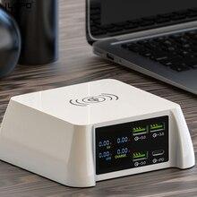 ILEPO 100W 무선 충전기 PD 20W USB C 충전기 For iPhone 12/11 Pro/XR/Xs Max 삼성 9V/2A 5V/3A QI 무선 고속 충전기