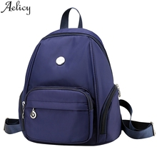 Aelicy Backpacks Men #8217 s And Women Leisure Fashion Large Capacity Shoulders Bag Student Backpacks Arcuate Shoulder Strap Backpack cheap NYLON other Unisex Softback Below 20 Litre Interior Slot Pocket Cell Phone Pocket Interior Zipper Pocket Soft Handle NONE