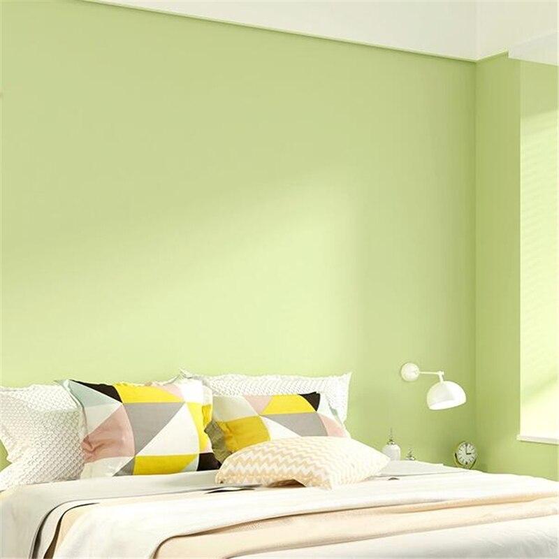 wellyu papier peint vert matcha jaune vert uni couleur unie minimaliste moderne papier peint non tisse pour chambre a coucher et salon tv