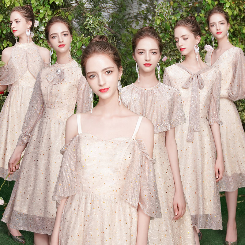 Bridesmaid Dresses 2020 Long A Line Backless Wedding Party Prom Women Dresses Formal Occasion Graduation Girl Dresses