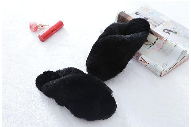 indoor chinelos de lã macia senhora casa sapatos