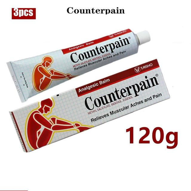 3pcs/lot 120g Counterpain Analgesic Ointment Relieves Joint Arthritis Pain Muscle Ache Sports Injury Sprain Massage Thailand 1