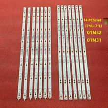 Партиями по 5 комплектов = 70 шт. светодиодный подсветка полосы для 55PFF5701 55PUS6501 LB55072 55PUS6561 55PUS6581 55PUS6101 55PUH6101 55PUS6401 01N31 01N32 A