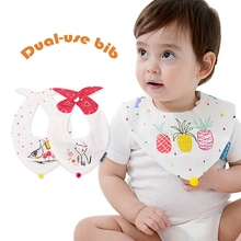 Dual-Use Bib in Baby Grils/Boys Bibs Contton/Silicone/Waterproof/Long Sleeve Toddler Infant Bandana Cotton Bebe Algodon