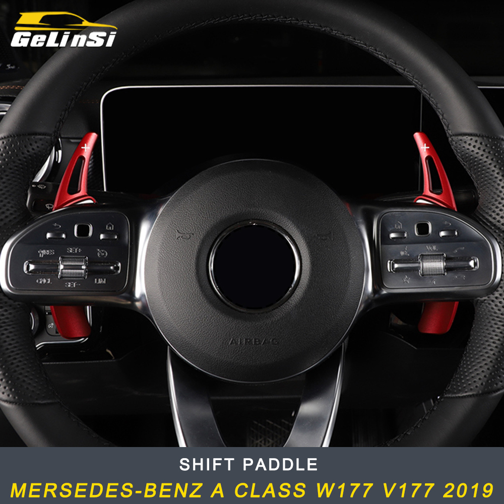 GELINSI Shift Paddle Trim Cover Sticker Accessories For Mersedes-benz A Class W177 V177 2019 Auto