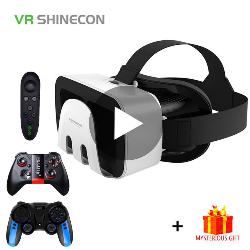 VR Shinecon G03B Helmet 3D Glasses Virtual Reality Casque For iPhone Android Smartphone Smart Phone Goggles Lens Lunette 3 D Set