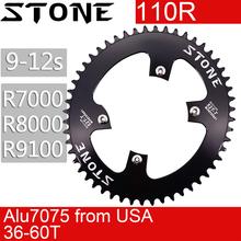 אבן 110 BCD סגלגל Chainring לshimano 105 R7000 r8000 r9100 42 46t 48 50 54 55 58 60T 110bcd MTB כביש אופני צלחת שן