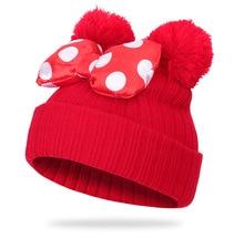 Winter Autumn New Children Knotted Cute Cap Girls Beanies Warm Knitted