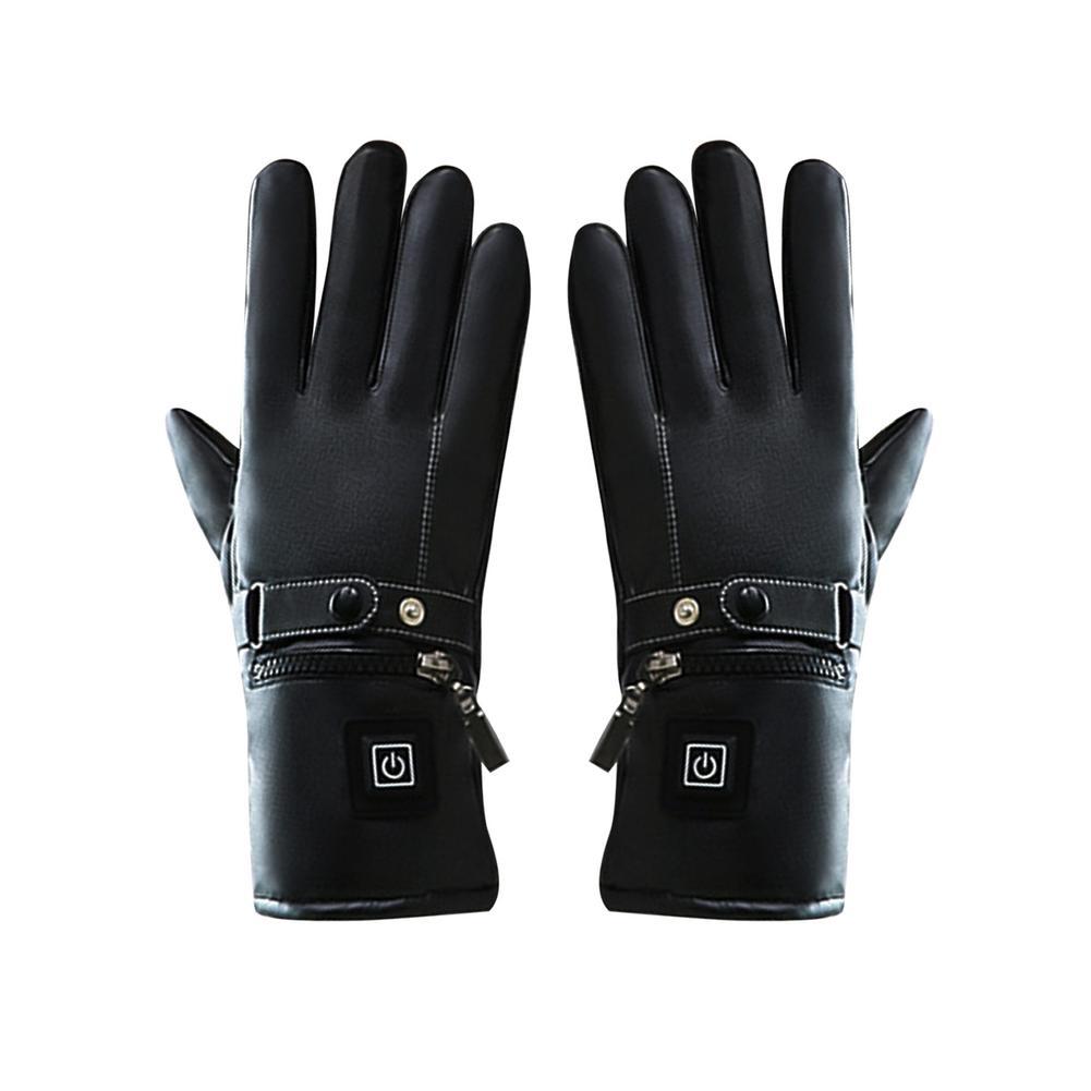 Перчатки с электроподогревом для скутера, безопасные зимние перчатки с 3-уровневым температурным контролем