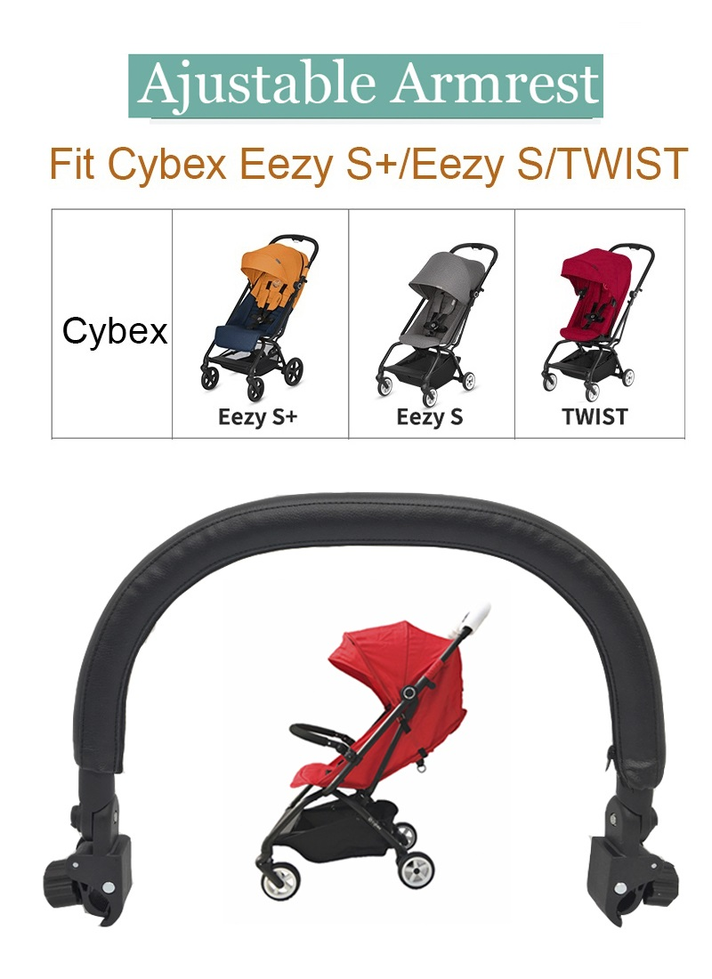 Baby Stroller Accessories Pu Leather Armrest Front Bumper Front Safety Railing For Cybex Eezy S S S Twist Stroller Design Strollers Accessories Aliexpress
