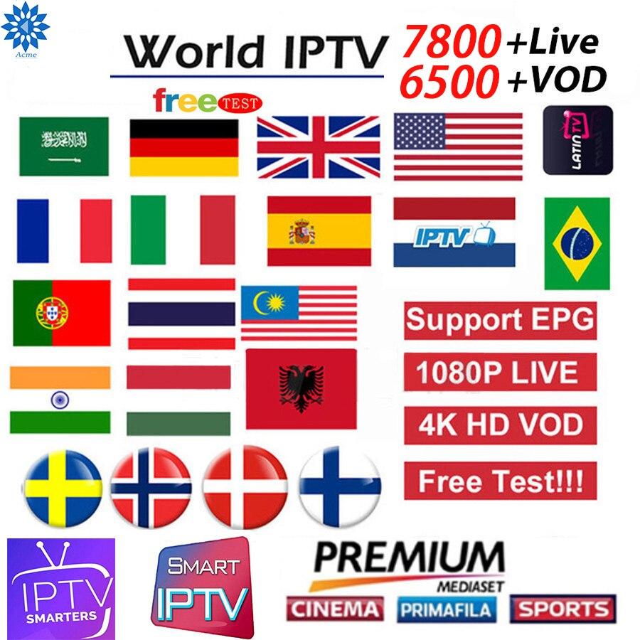 Best HD IPTV M3u Subscription Iptv Italy Sweden France Poland VOD Mediaset Premium For Android Box Enigma2 Smart TV PC Free Test