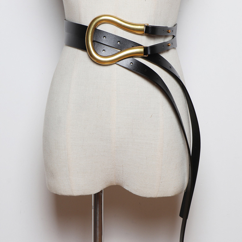 DEAT 2021 New Fashion Autumn Belt For Women Cowskin Metal Rings Press Trendy Casual classic Belt Female High Street 1K755