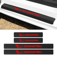 4PCS Auto Door Threshold Plate Guards Sticker For Daihatsu D base D R PICO Car Door Sill Carbon Protector Accessories
