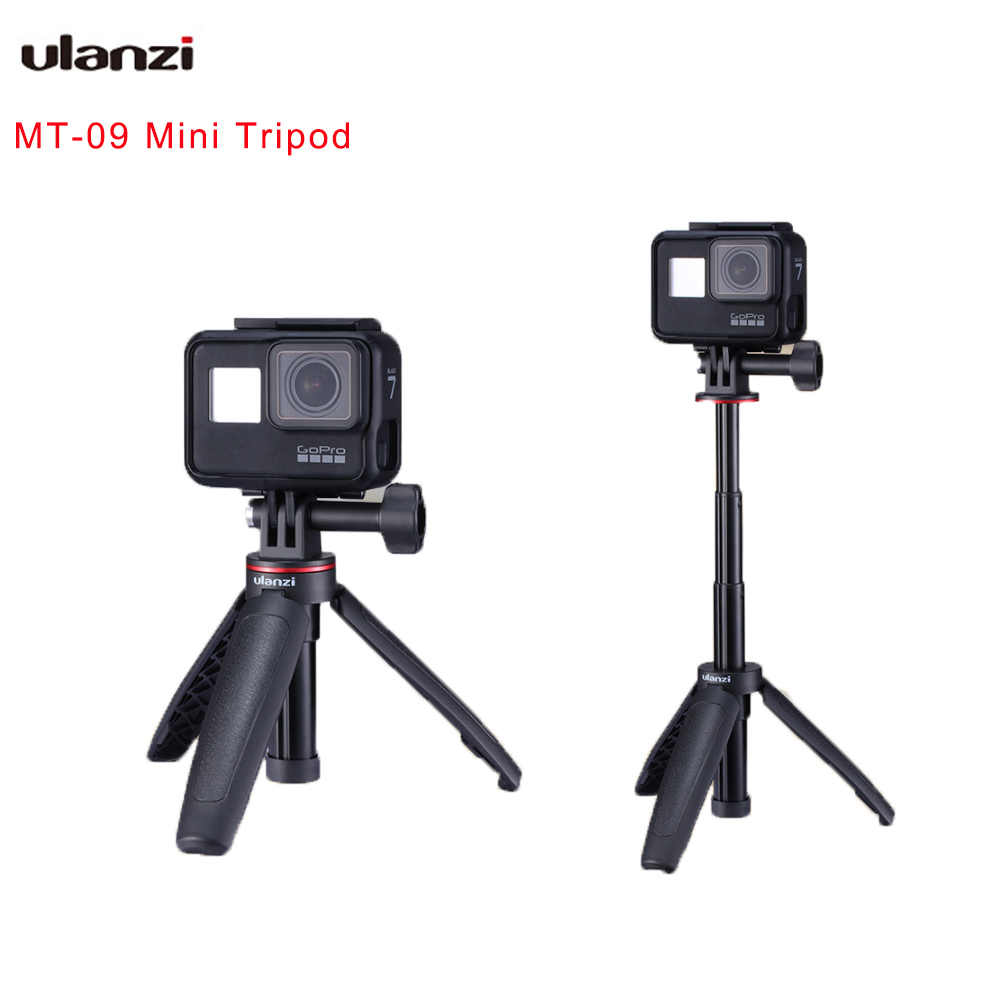 Ulanzi MT-09 Extend Gopro Vlog Tripod Mini Lightweight Portable Tripod for Gopro Hero 8 7 6 5 Black Session Osmo Action Cameras