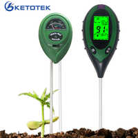 Multifunction 1/3 1/4 SOil Ph meter Soil Tester Sunlight Temperature Humidity Monitor Soil Thermometer Hygrometer