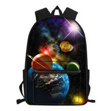 16inch 3D Planets Print Children Book Bag School Ba