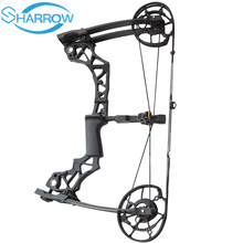 цена на Hunting Archery Bow Compound Bow 40-60lbs Slingshot Bow Adult Hunter with Arrow Rest for Arrow Steel Ball Dual Purpose Shooting