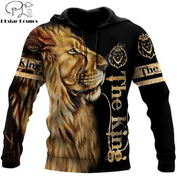 Animal lion 3D Printed Fashion Mens Hoodie Harajuku Streetwear Pullover Autumn Sweatshirt Unisex Casual Jacket Tracksuit DW0160