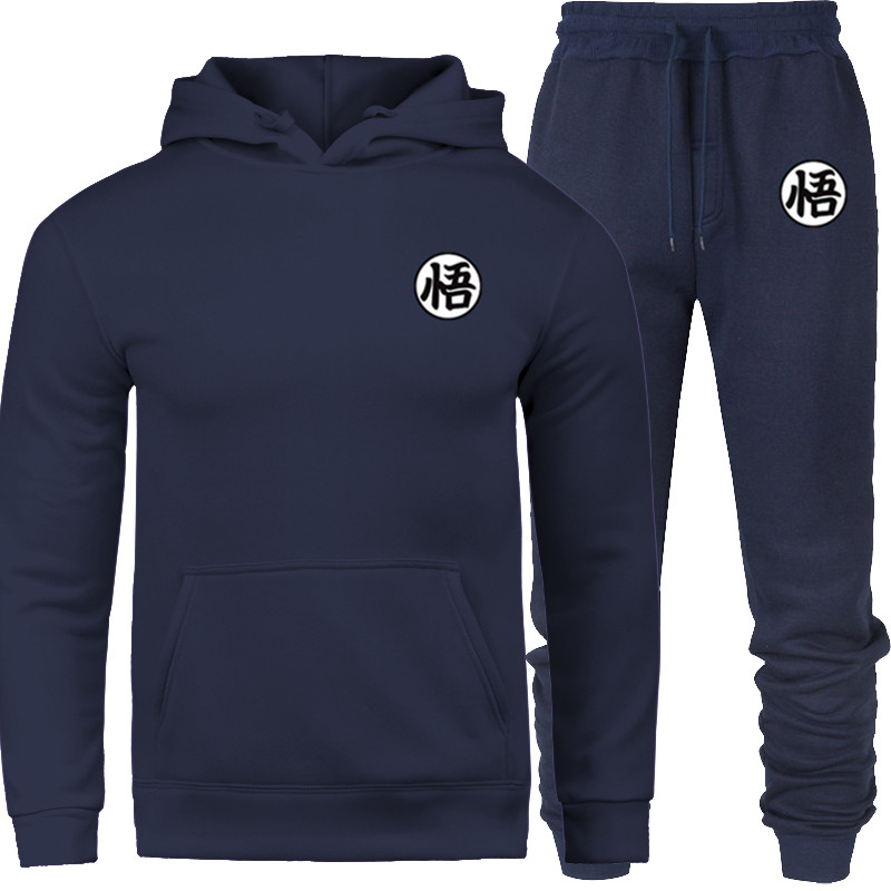 2019 New Brand Prints Wu Sportswear Tracksuit Sets Men Men Thermal Underwear Fleece Thick Hoodie+pants Sporting Suit