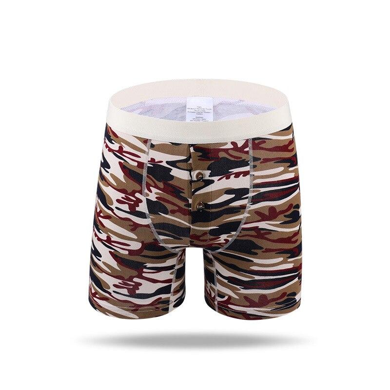 Men's Boxers Cotton Underwear Panties Long Leg Boxer Trunks Shorts Underpants Breathable Stretchy Male Boxershorts