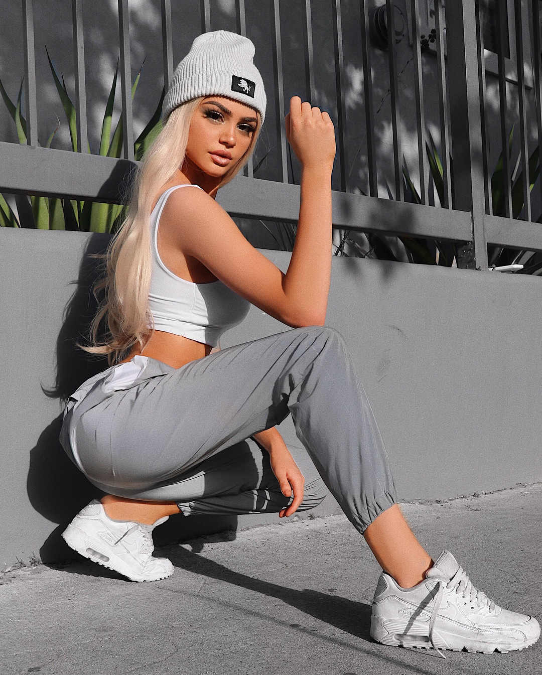 New Flash reflective jogger pants 2019 autumn winter women casual gray solid streetwear trousers