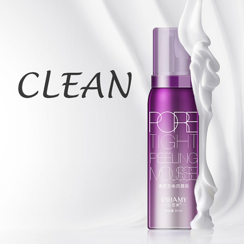 80ml Hotsale Removing Dead Skin Shrink Pores Blackhead Pore Tight Peeling Mousse Exfoliating Cleanser