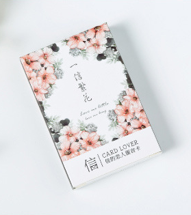 52mm*80mm Flower Letter Paper Greeting Card Lomo Card(1pack=28pieces)