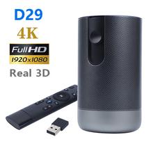 DLP D29 Mini projektor 1920x1080P Full HD Android 7 0 (2G + 16G) 5G WiFi rzutnik baterii wsparcie 4K 3D game Beamer tanie tanio UNIC Instrukcja Korekta CN (pochodzenie) 16 09 150 Anis 1920x1080 dpi 3500 Lumenów 3000 01 00 Domu Rzucanie 0 65Kg 1 2-5m