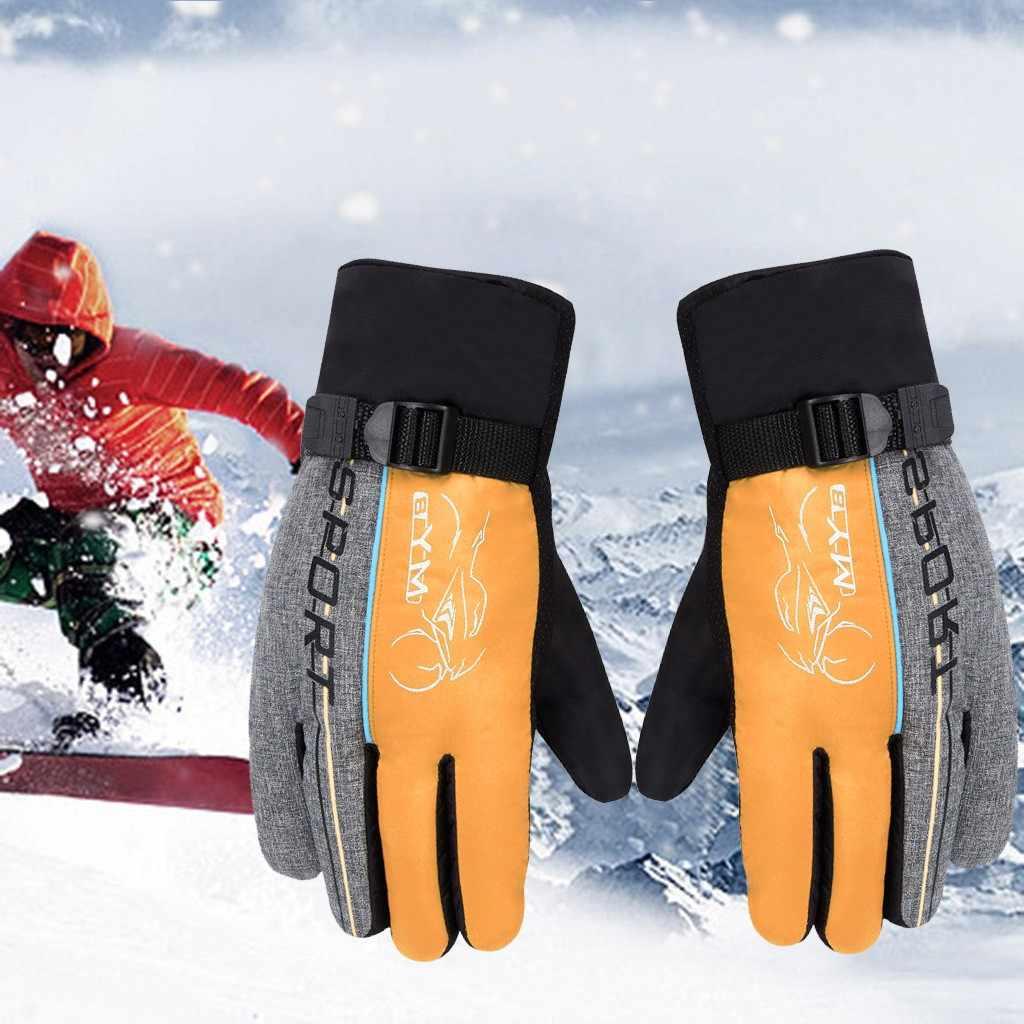 Kış kayak eldiveni erkekler kadınlar çocuk Snowboard spor eldiven açık spor rüzgar geçirmez kar kayak motosiklet eldivenleri bisiklet # YL10