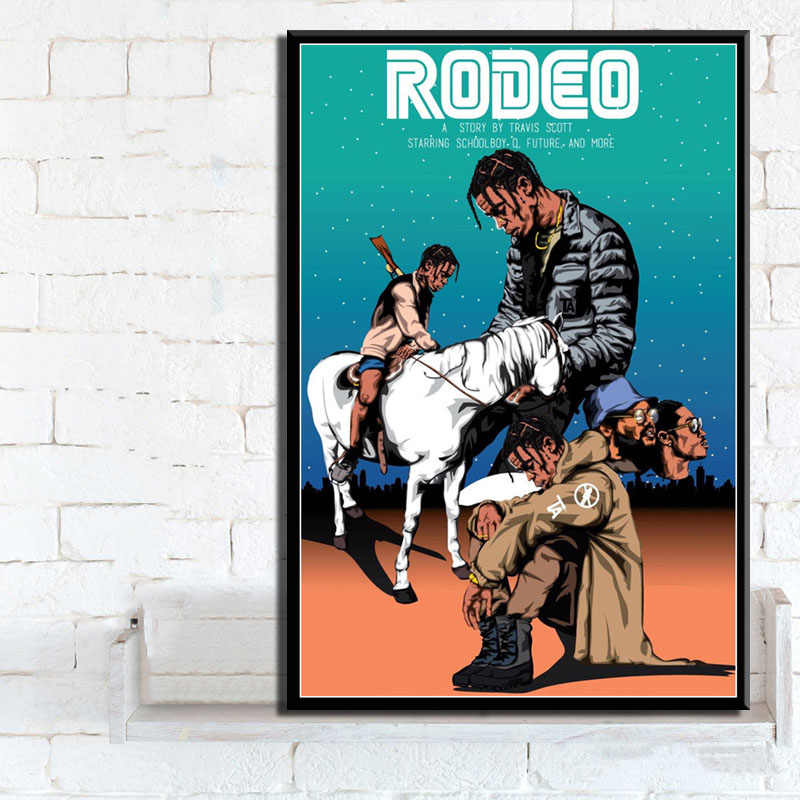 Travis Scott Astroworld Hot Album Hip Hop Rap Fabric Poster Home Decor H-116