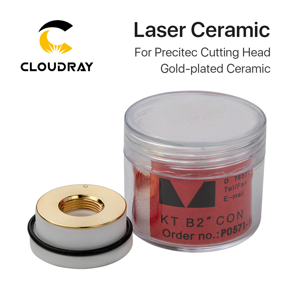 Cloudray Laser Gold-plated Ceramic KT B2 CON P0571-1051-00001 For Laser Cutting Head 28mm/24.5mm Free Shipping