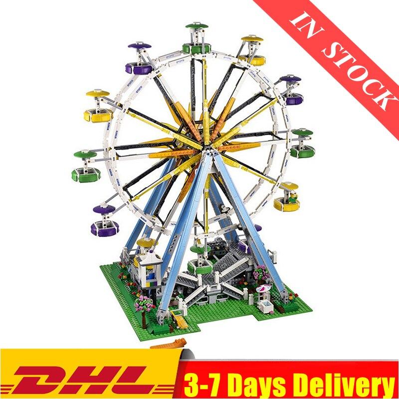 DHL IN Stock City Street Ferris Wheel Model Building Kits Set Assembling Blocks Toy Compatible 15012 10247 Birthday Toys