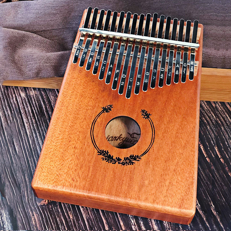 17 Keys Black Stylish Kalimba Thumb Piano Mahogany Body Musical Instrument