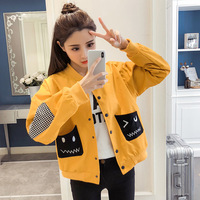 Photo Shoot Korean Style Baseball Uniform 2019 Spring Coat Jacket Student Campus Fashion BF Loose Fit Versatile Fashion